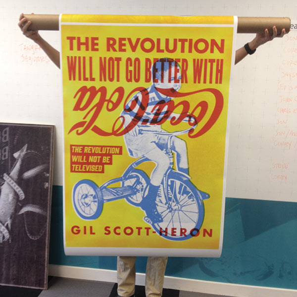 """The Revolution Will Not Be Televised"" poster by Corey Kolb"