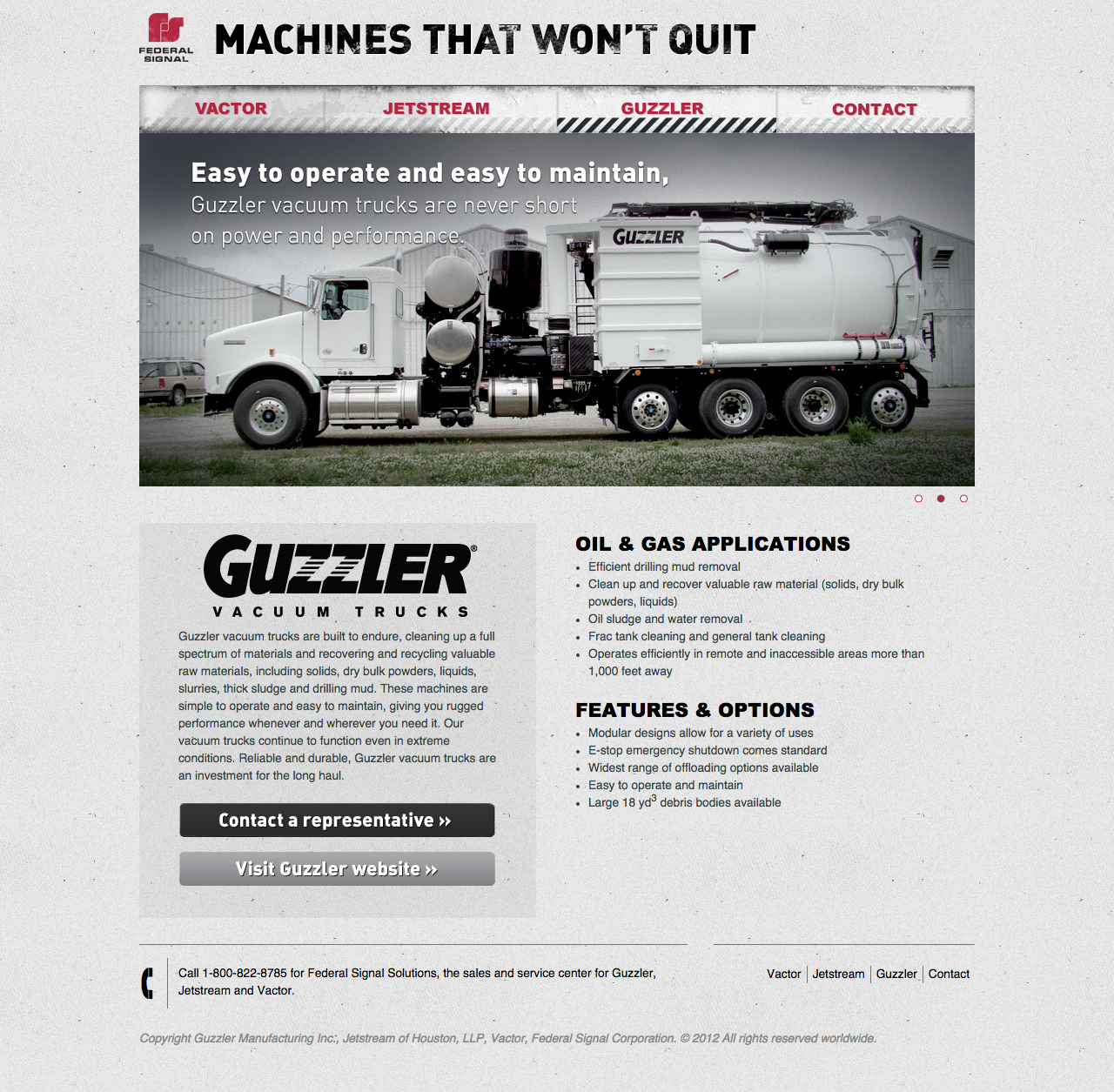 Machinesthatwontquit.com section on Guzler